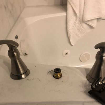 A Faucet Being Repaird